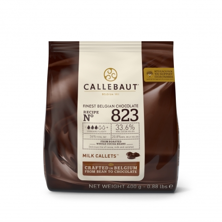 Czekolada mleczna Callebaut 823 w pastylkach 400g