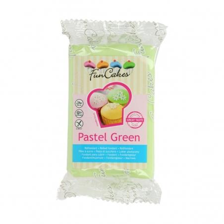 Masa cukrowa pastelowy zielony 250 g