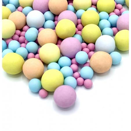 Happy Sprinkles posypka Bubble Gum, czekoladowe kule
