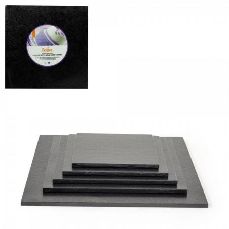 Podkład pod tort czarny kwadrat b. gruby 35 x 35 cm
