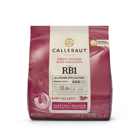 Czekolada Ruby Callebaut w pastylkach 400g