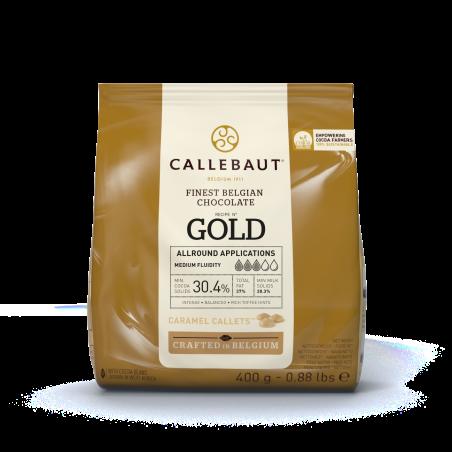 Czekolada karmelowa Callebaut Gold w pastylkach 400g