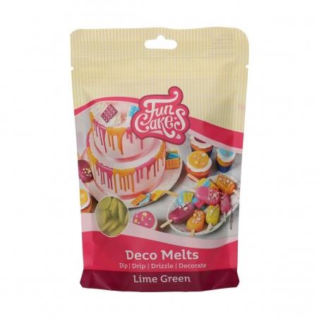 Candy melts polewa do cake popsów pastylki zieleń limonkowa 250g