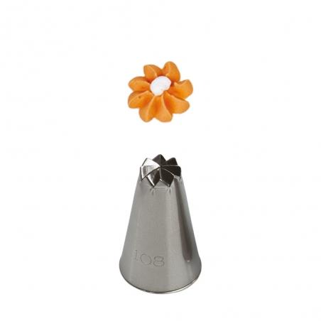 108 Tylka/ końcówka dekoratorska, kwiatek, duża Decora