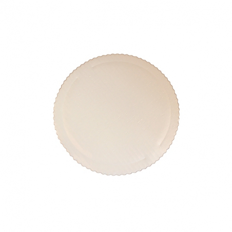 Podkład od tort biały okrągły karbowany śr. 22 cm sztywny