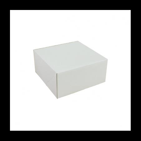Pudełko na tort białe klapowe 22 x 22 x 11 cm