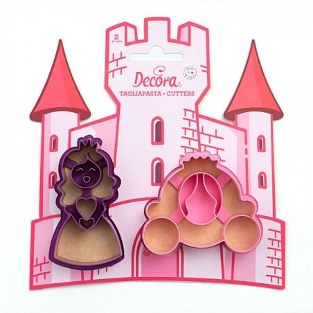 Foremka wykrawaczka księżniczka i kareta 2 szt.