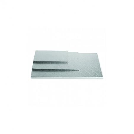Podkład pod tort srebrny kwadratowy b. gruby 40 x 40 cm