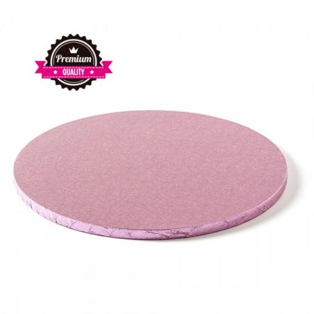 Podkład pod tort różowy okrągły b. gruby śr. 25 cm