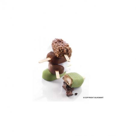 Forma silikonowa  classic do lodów na patyku, cakesicle 93x48,5 mm h 25 mm + 50 szt. patyczków