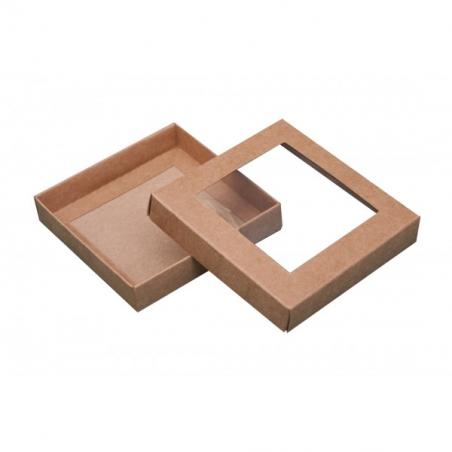 Pudełko eko z okienkiem 10,5 x 10,5 x 2 cm