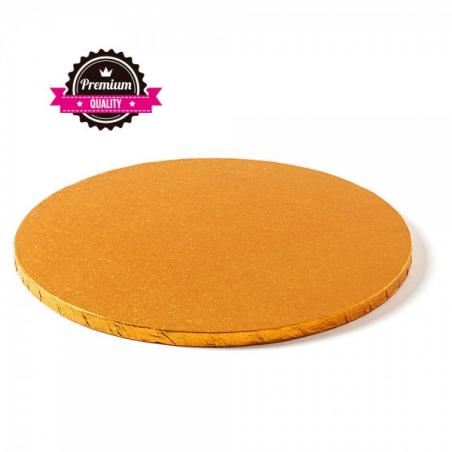 Podkład pod tort pomarańczowy miedziany okrągły b. gruby śr. 25 cm